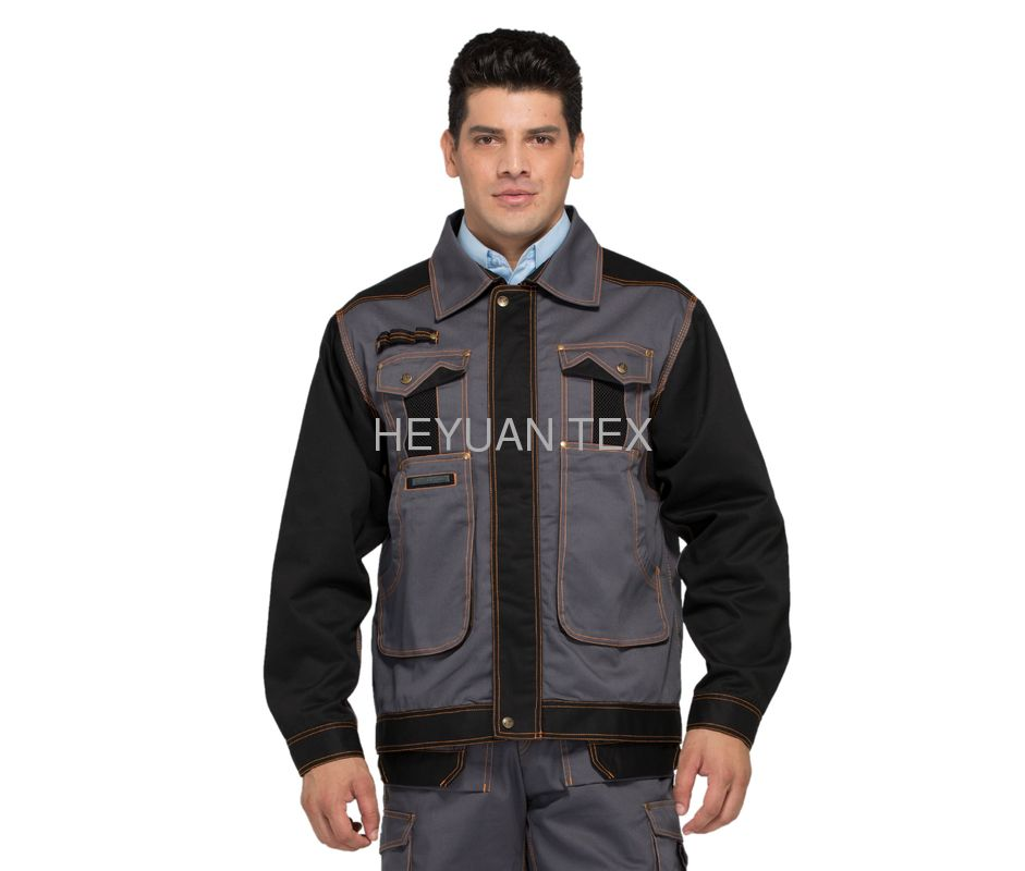 Top Rated Heavy Duty Jacket , Industrial Safety Jacket  Twill 300gsm , Oxford 600D Reinforcement
