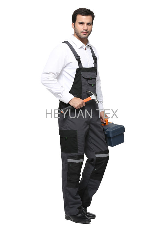 Industrial Heavy Duty Bib Work Pants Hard Wearing With Durable Double Stitching